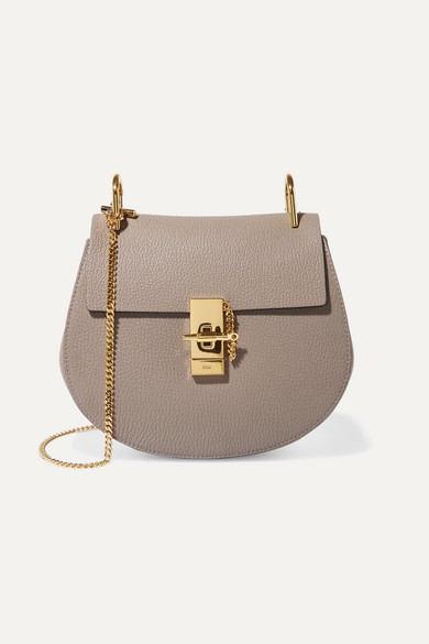 Chloé - Drew Small Textured-leather Shoulder Bag - Light gray