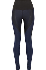 Zoned Sculpt ribbed stretch-jersey leggings