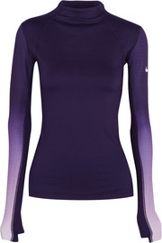 Nike Pro Hyperwarm ombré Dri-FIT stretch-jersey top