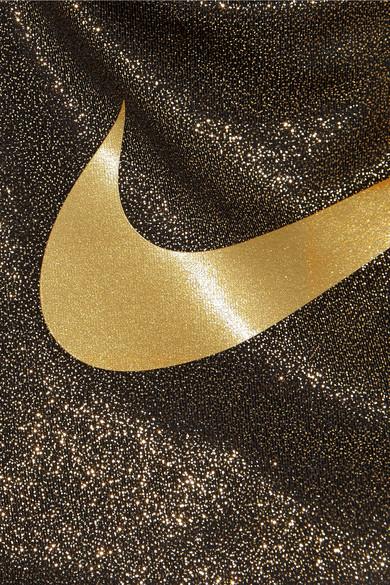 Nike Pro Classic Metallic Stretch Jersey Sports Bra