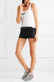 Mesh-paneled stretch-jersey shorts