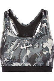 Pro Classic printed stretch-jersey sports bra