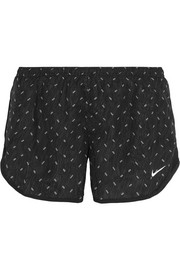 Nike Dry Tempo mesh-trimmed printed shell shorts