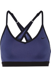 Pro Indy stretch-jersey sports bra
