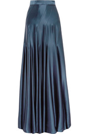 Colette silk-satin maxi skirt
