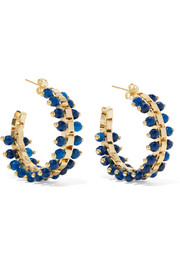 Rosantica Airone gold-tone quartz hoop earrings