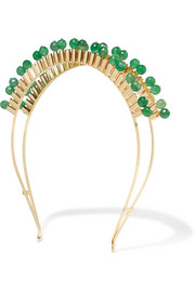 Cleopatra gold-tone quartz headband
