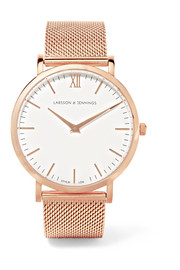 Lugano rose gold-plated watch