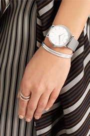 CM silver-plated watch