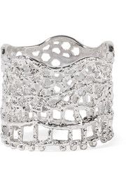 Lace silver-plated ring