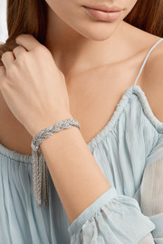 Aurélie Bidermann Miki braided silver-plated bracelet