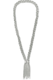 Aurélie Bidermann Miki braided silver-plated necklace