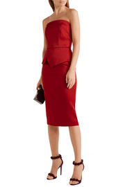 Cozen strapless stretch-satin dress