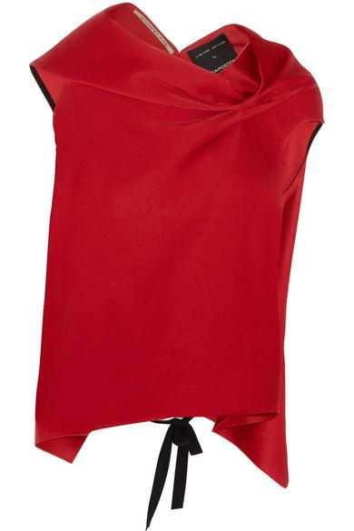 Roland Mouret - Eugene Draped Satin Top - Red