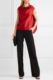 Roland Mouret Eugene draped satin top