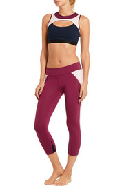 Live The Process Cropped stretch-Supplex® leggings
