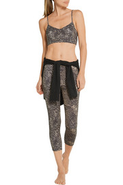 Live The Process Cropped leopard-print stretch-Supplex® leggings