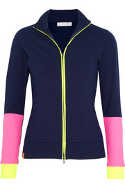 Color-block stretch-jersey jacket