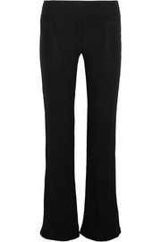 Splendid Sylvie ribbed-knit flared pants