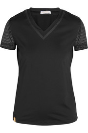 Net Gains stretch-jersey and mesh T-shirt