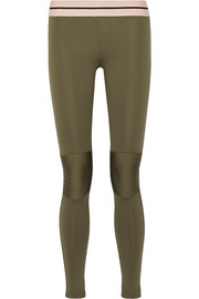 Moto stretch-jersey leggings