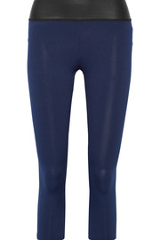 Kore neoprene-trimmed stretch-jersey leggings