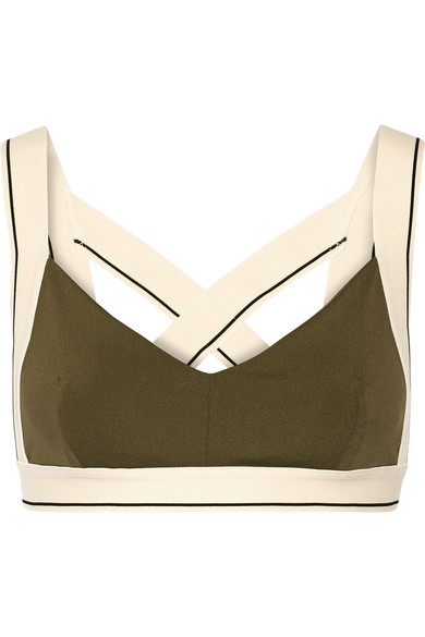 olympia activewear female 227438 olympia activewear x stretchjersey sports bra army green