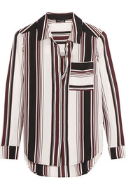 Splendid Luxe striped washed-silk shirt