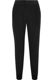Splendid Luxe washed silk crepe de chine tapered pants