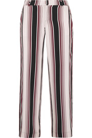 Splendid Luxe striped washed-silk wide-leg pants