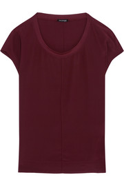 Splendid Luxe stretch modal-trimmed washed-silk top