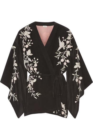 6a6123f8bce Talitha   Embroidered silk-crepe kimono jacket   NET-A-PORTER.COM