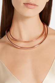 Set of two rose gold-plated Swarovski crystal chokers
