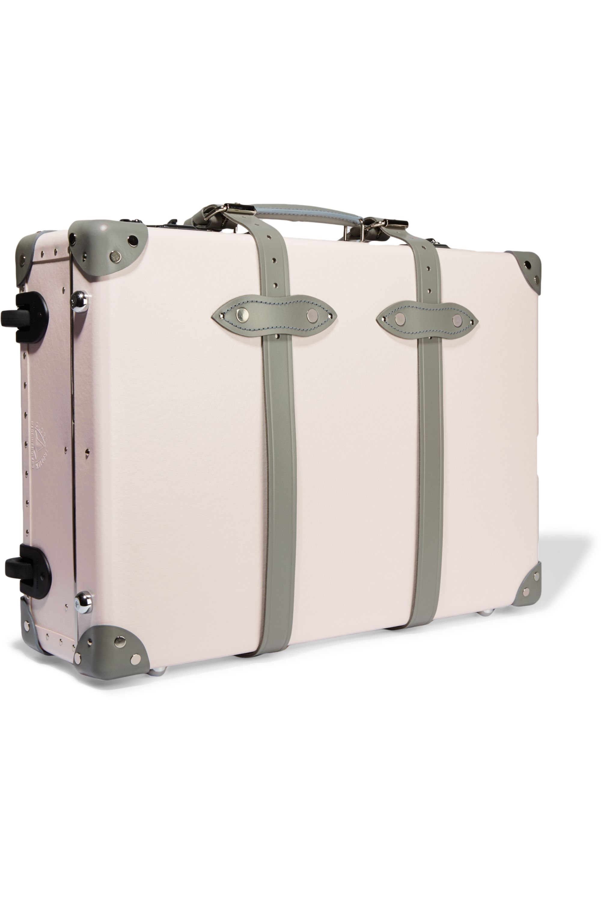 Globe-Trotter Emilia 21'' leather-trimmed fiberboard travel trolley