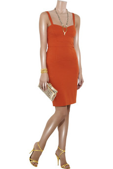 Diane von Furstenberg Slippery shantung-jersey dress