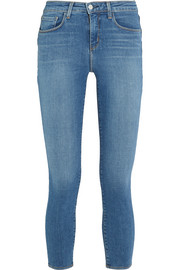 Margot cropped high-rise skinny jeans