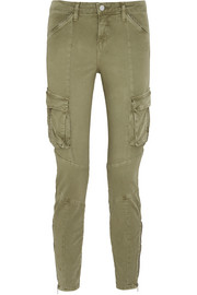 L'Agence Montgomery stretch-cotton twill skinny pants