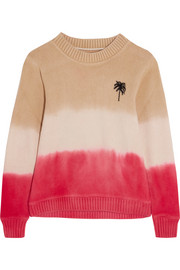 The Elder Statesman Dégradé intarsia cashmere sweater
