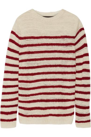 The Elder Statesman - Picasso Striped Cashmere Sweater - Off-white