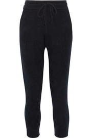 Cashmere and silk-blend track pants