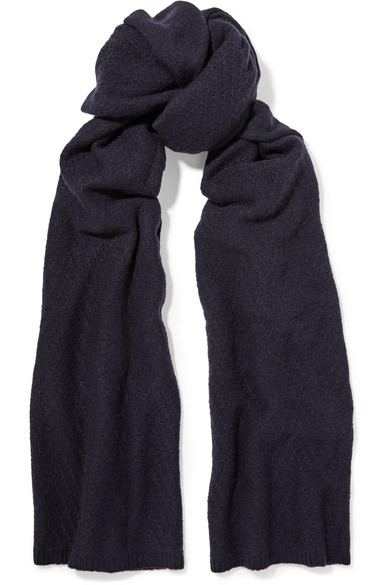 The Elder Statesman - Itsa Blanket Cashmere Scarf - Navy