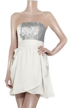 Alice + Olivia Sequined silk-georgette dress