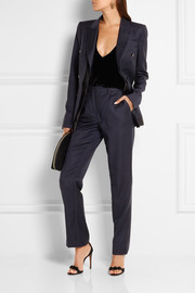 Dion Lee Midnight wool-twill straight-leg pants