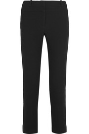 Cropped wool-crepe skinny pants