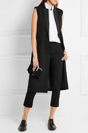 Dion Lee Midnight silk-trimmed wool-twill gilet