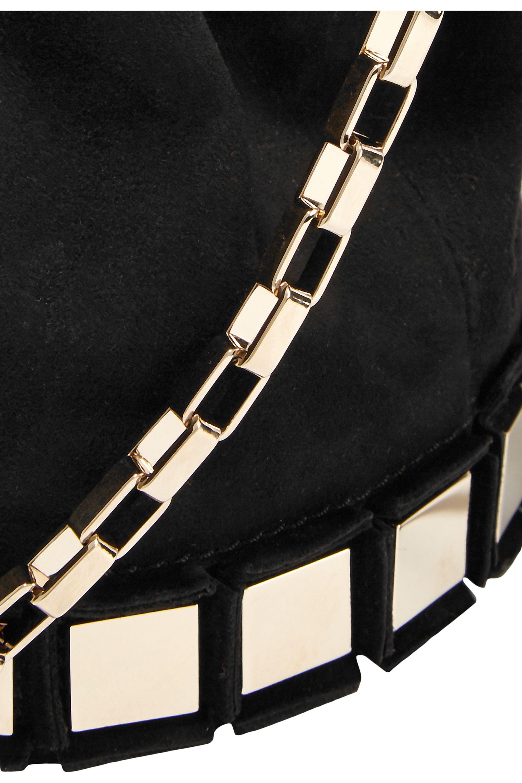 Tomasini Lucile embellished suede bucket bag