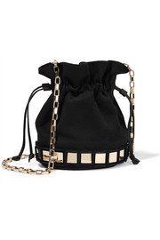 Lucile embellished suede bucket bag