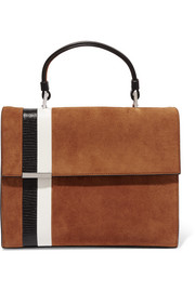 Tomasini Stratoss suede and leather tote