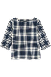 Herald plaid cotton-flannel top