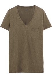 Whisper slub cotton-jersey T-shirt